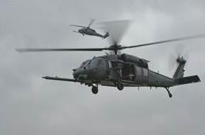 A USAF HH-60G Pave Hawk helicopter like one which crashed in England Tuesday, killing four U.S. airmen.