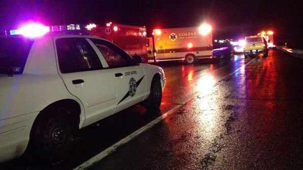 One woman under arrest following head on crash on highway for Plaza motors collision center