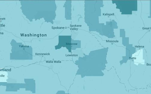 Mapping Poverty In The Inland Northwest Spokane North Idaho - Us poverty map 2014