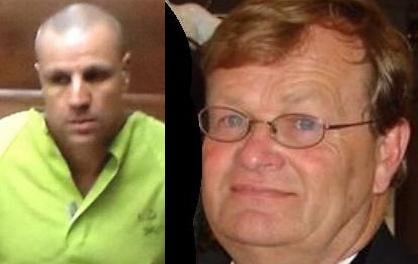 Timothy Suckow (left) was arrested Tuesday for the murder of Doug Carlile (right)