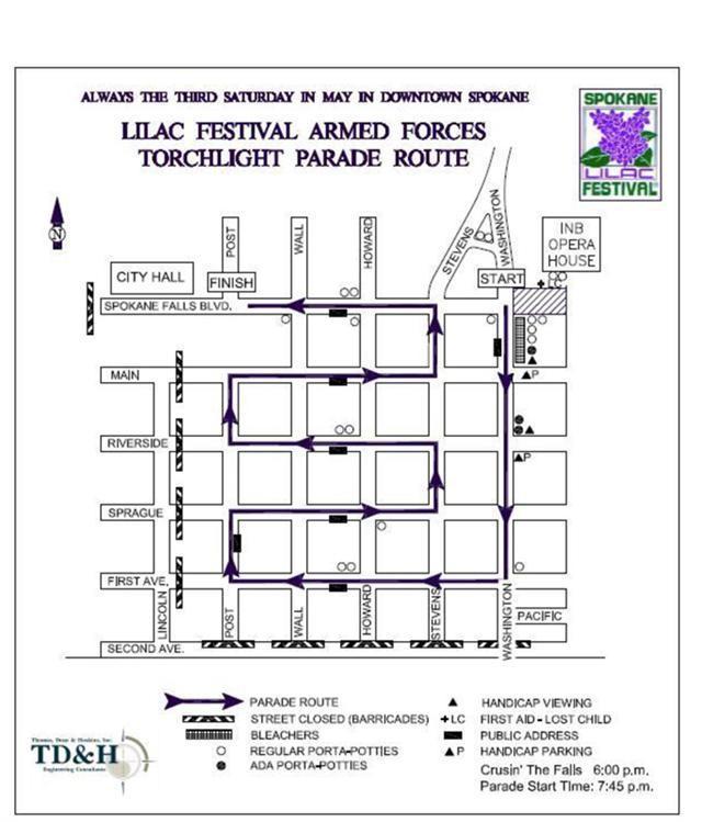 2013 Lilac Festival Parade Map