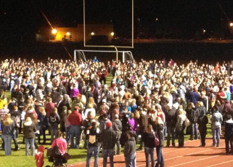 Photo of Sunday night's vigil