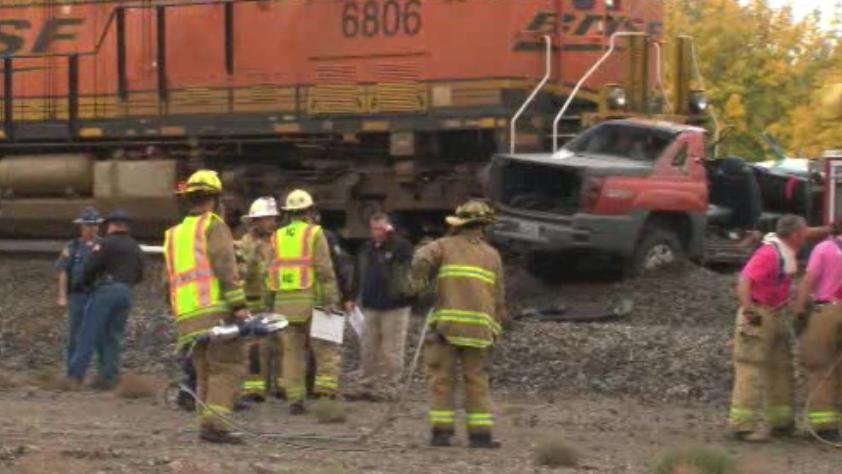 Photo of train that hit vehicle in Spokane Valley on Friday morning