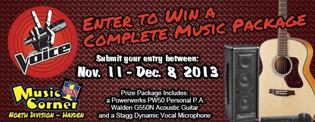 Enter to win a Music Package from Pawn One's MusicCorner