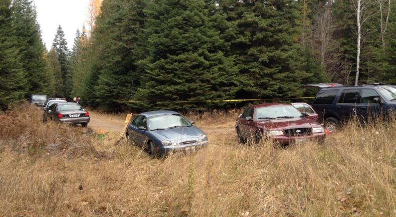 Photo of property in Elk, Wash. where human remains were found on Thurs.