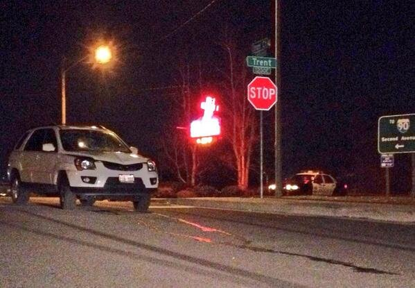 A man was struck by an SUV near Trent and Iron Court Friday night