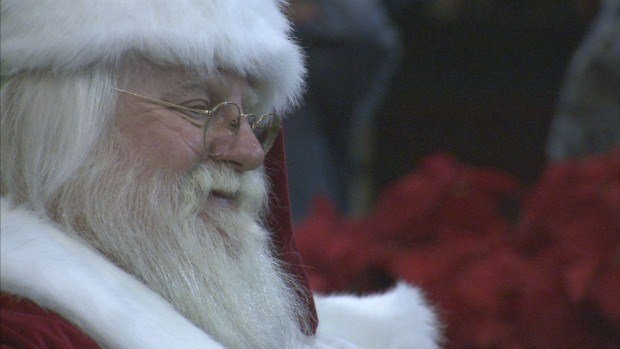Santa Clause Arrived At River Park Square Friday Night