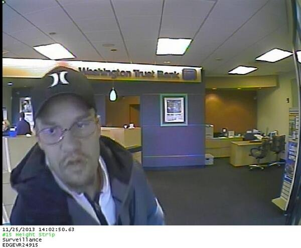 Spokane Police say this man robbed the Washington Trust Bank Of Maple & Garland Monday afternoon