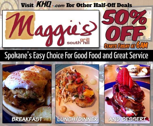 KHQ NW Deals: Save 50% off at Maggie's Grill
