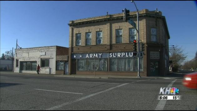 The owner of the Army Surplus store says cars have crashed through his shop 7 times in the last 10 years.