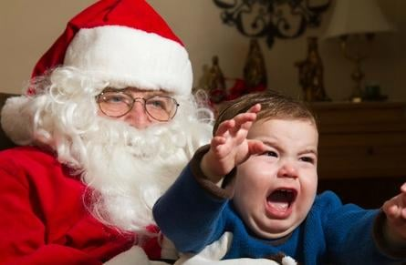 Most of us have experienced this before: We take our children to go see Santa Claus only to have our children scream as if we were abandoning them forever.
