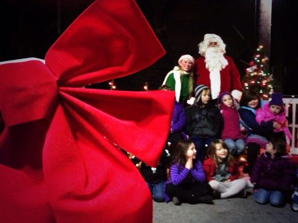 Children took a ride on the North Pole Express in Riverfront Park Wednesday night to meet Santa Claus.