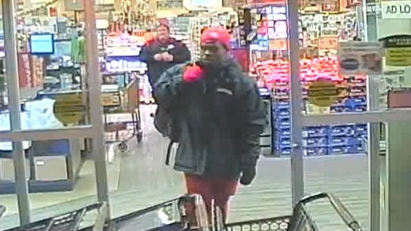 Police say this man bit a loss prevention officer during a shoplifting crime