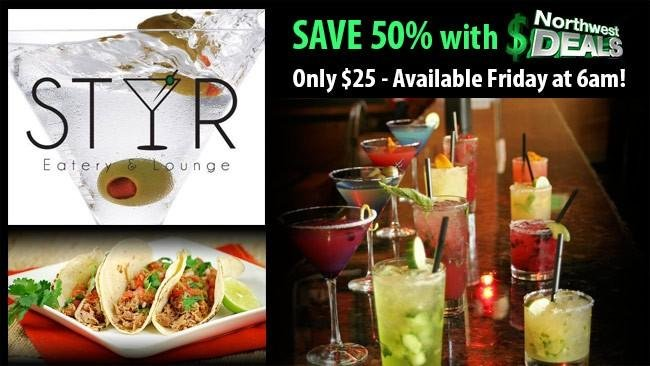 KHQ NW Deals: Stir Eatery and Lounge - half-price at $25!