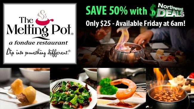 KHQ NW Deals: The Melting Pot, half-price at $25!