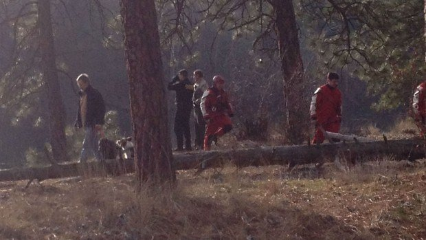 Firefighters found the body of a man in the Spokane River near Maringo Dr. and Farr Road Tuesday afternoon