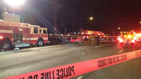 A serious multi-vehicle crash near Nevada and Cozza in north Spokane Thursday night