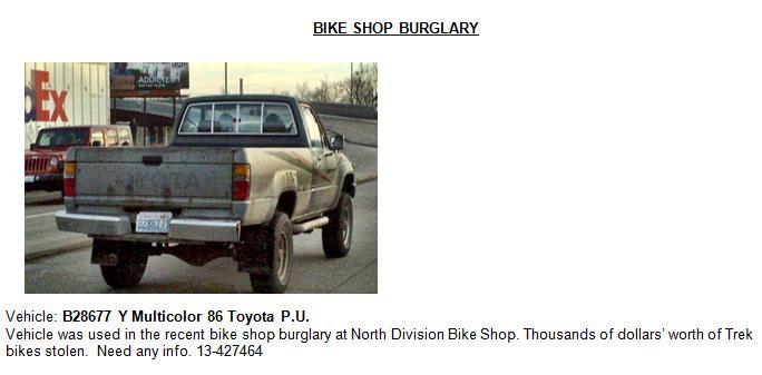 Photo of stolen vehicle