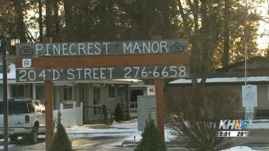 Pinecrest Manor on 'D' Street where the fatal Deer Park shooting occurred.