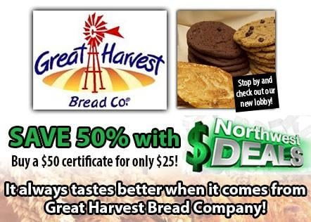KHQ NW Deals: Half-off Great Harvest Bread Company - only $25!