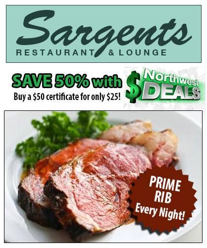 KHQ NW Deals: Half-off Sargents - only $25!