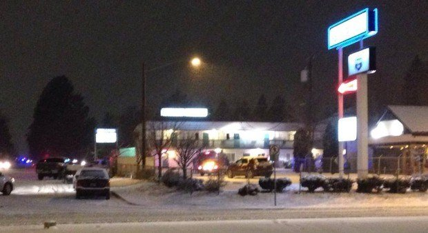 Spokane Police were involved in a standoff at the Knight's Inn in north Spokane Tuesday night
