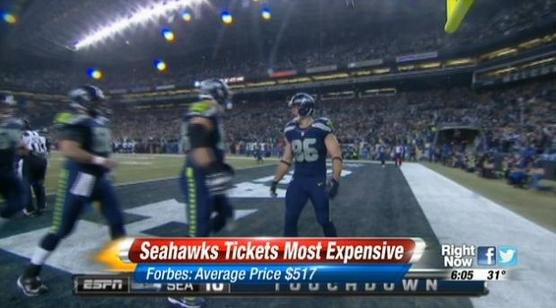 Seahawks take on the Saints this Saturday in what has been the most expensive NFL game so far this year.