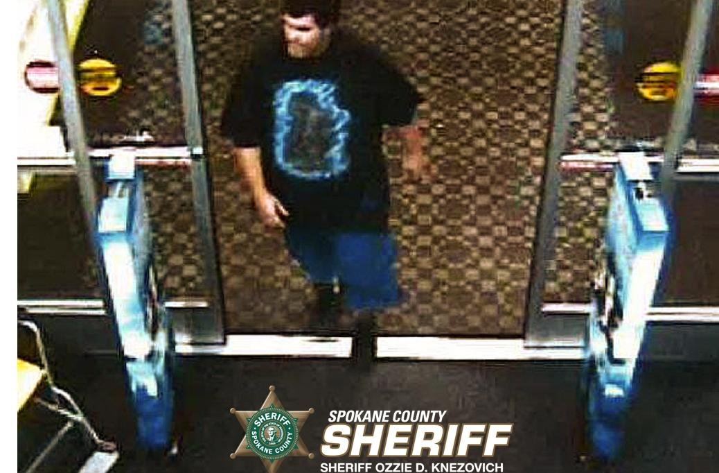 Spokane Valley Sheriff's Property Crimes Detective John Oliphant needs your help identifying the male suspect, wearing a black t-shirt.