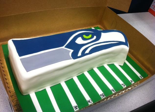 Happy Cake Co. Seahawks Cake