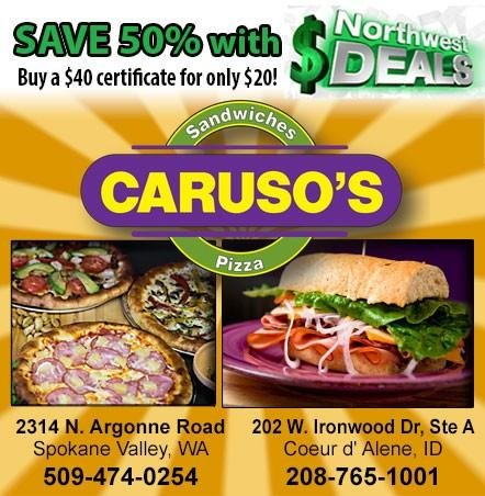 KHQ NW Deals: Half-off at Caruso's Sandwich and Pizza Company - only $20!