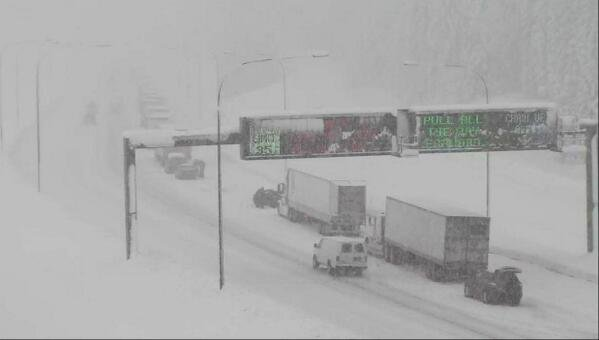 Photo of Snoqualmie Pass from Twitter