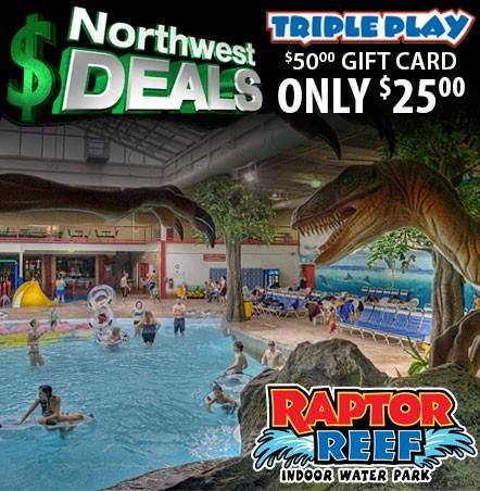KHQ NW Deals: Half Off Triple Play Family Fun Park and Raptor Reef Indoor Waterpark!