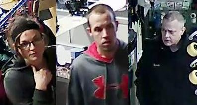 Detectives are investigating these three shoplifters who stole merchandise from the Let It Ride Board Shop in Spokane