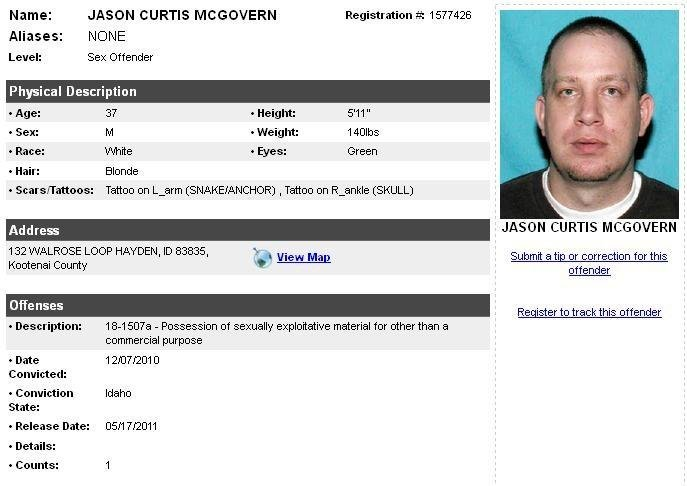 Kevin mcgovern sexual offender