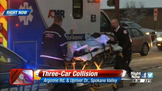 3 Vehicle Accident on Argonne and Upriver
