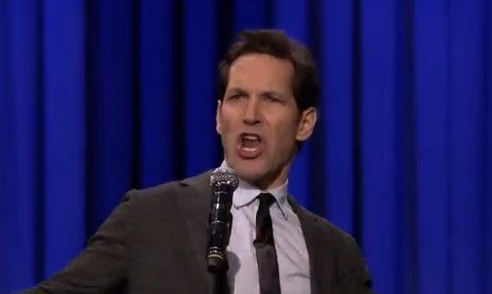 Paul Rudd On The Tonight Show For The First Official Lip Sync Battle!