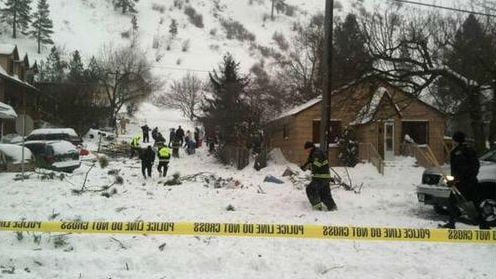 A house has been destroyed and an 8-year-old was buried after an avalanche in Missoula. (PHOTO: ABCFox Montana)