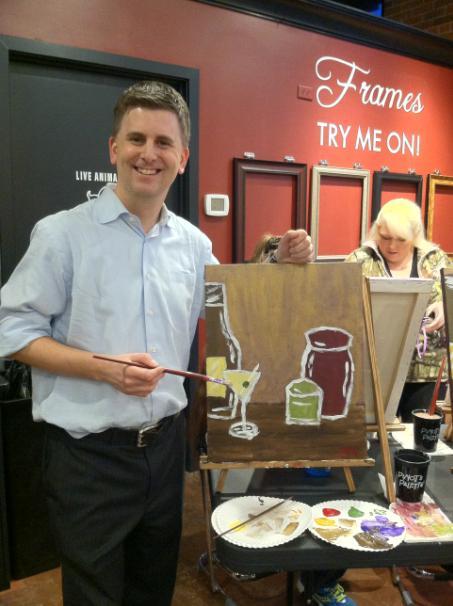 Matt Rogers Tries Painting Too!