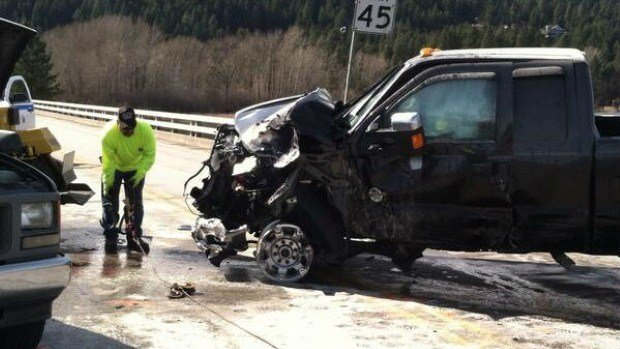 A person has died in a crash on Hwy. 95 near Ramsey Rd. on Tuesday