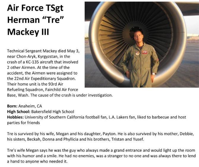 """Air Force TSgr Herman """"Tre"""" Mackey III"""
