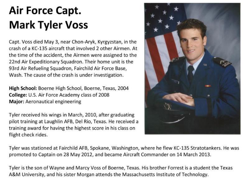 Air Force Capt. Mark Tyler Voss