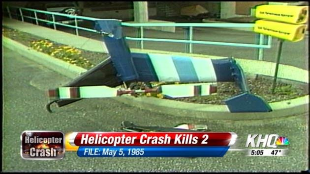 A news helicopter crashed in Spokane in 1985 at KREM, killing two people.
