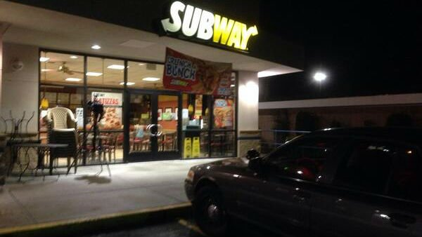 One night after a Subway was robbed on N. Nevada, Spokane Police are searching for the man who robbed the Subway in the Shadle Park Shopping Center Wednesday night.