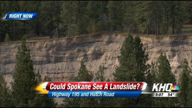 Hills in Spokane have dealt with erosion, but the land has not slid down the cliff like it did on Saturday.