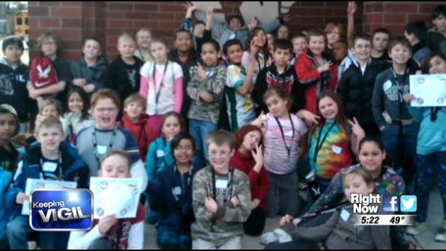 """A program called """"Reach for the Future"""" chose to adopt a 2nd grade class from Lidgerwood Elementary School."""