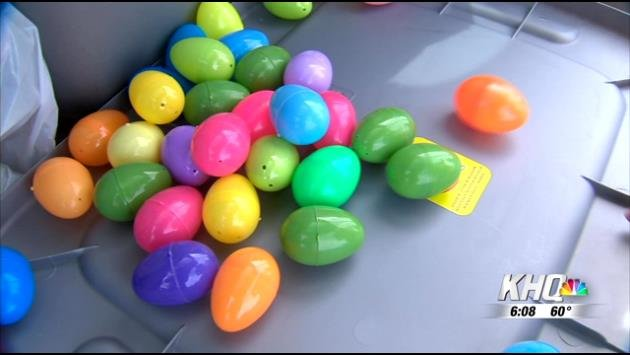 "People can make a small donation of just $5 per dozen eggs to order a so-called ""hit"" on the house of a friend of family member and a team of volunteers will hide eggs fill with candy in the yard of the home that's been targeted at dusk this Saturday."
