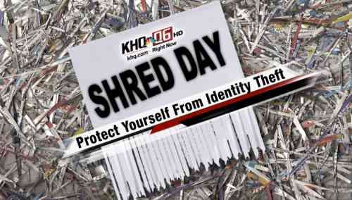 Shred Day is Wednesday, April 16th from 6:00am to 6:30pm