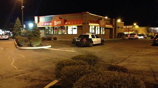 "An armed robbery occurred at the Wendy's at the ""Y"" in north Spokane Wednesday night"