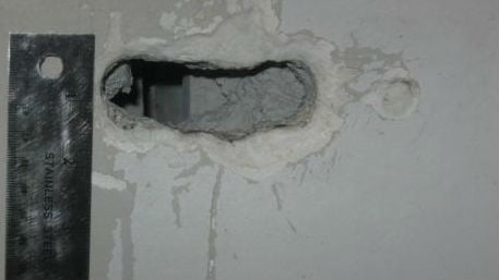 This hole was found in the cell of two Spokane County Jail inmates