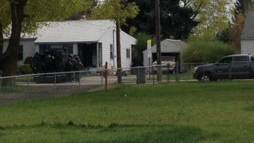 SWAT Team assisting the Spokane County Sheriff's Department during a standoff at Broadway and Farr.